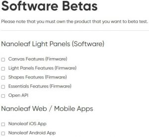 Nanoleaf Research Page Software Beta Research
